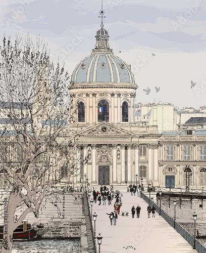 Recess Fitting Illustration Paris Pont des arts in Paris