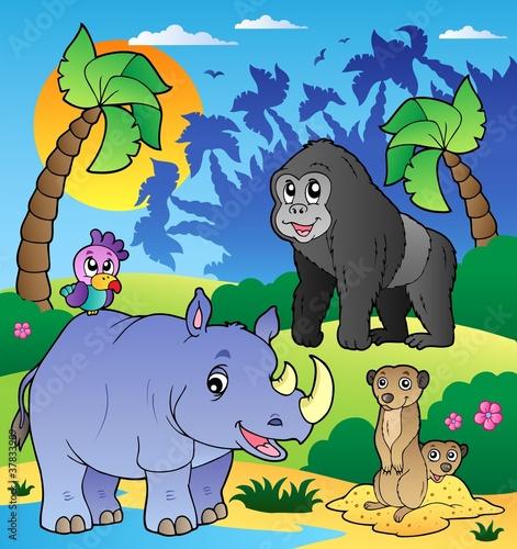 afrykanska-sceneria-ze-zwierzetami