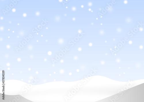 Recess Fitting Blue sky Winterkandschaft