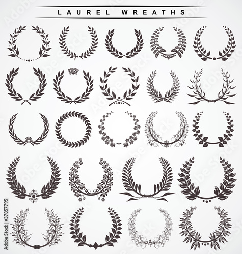 Photo  laurel wreaths
