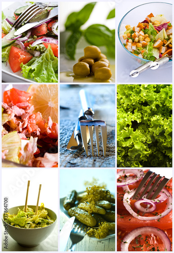 Fototapeta Zdrowa żywność - kolaż obraz