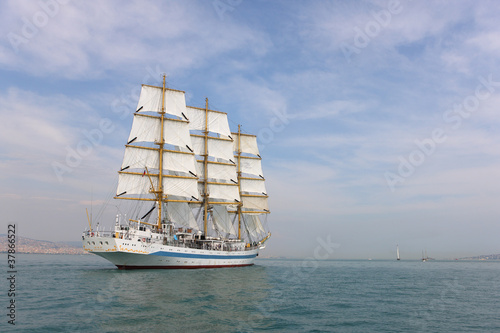 old white sailing ship © ebstock