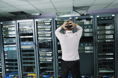 system fail situation in network server room Canvas