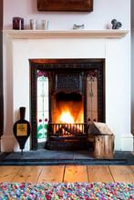 Winter Living Room Fire