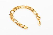 Gold Bracelet Isolated Over White