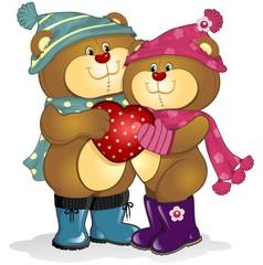 Medvjedi zaljubljeni u srce