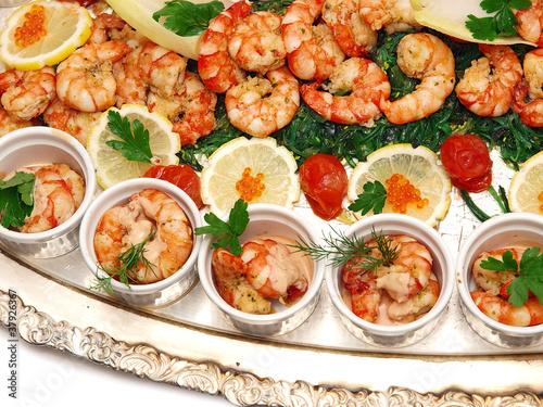 La pose en embrasure Nourriture seafood platter