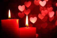 Candles For Valentine's Day