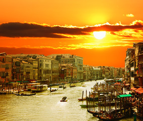 FototapetaGrand Canal of Venice at Sunset