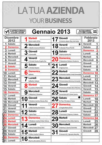 Calendario E Santi.Calendario Gennaio 2013 Santi Lune E Oroscopo Buy This