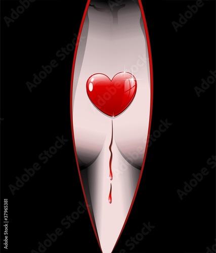 Seno Donna Cuore d'Amore-Love Heart on Woman's Breast