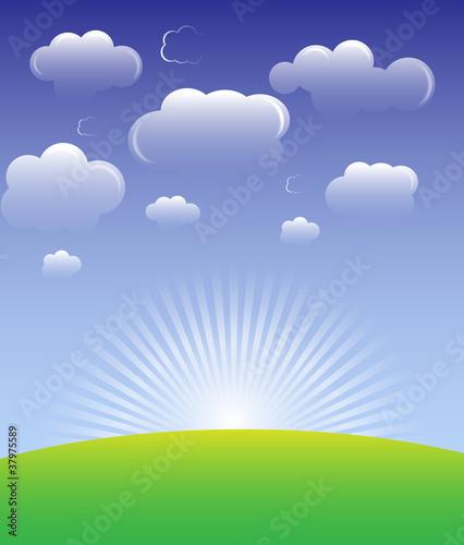 Foto op Canvas Pool Cloud background vector