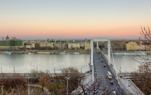 Elisabeth Bridge And Pest View, Budapest, Hungary