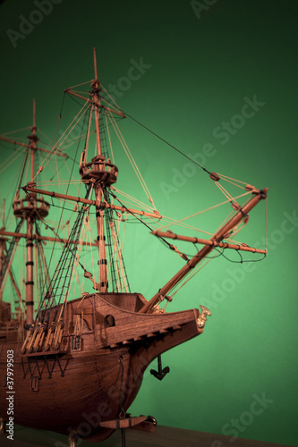 Old fashioned model ship Canvas Print