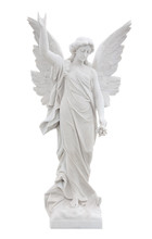 Beautiful Marble Angel Isolate...