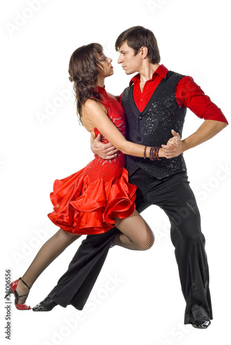 Photo  Portrait of young elegance tango dancers.
