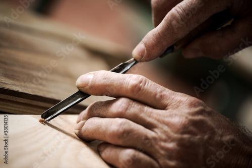 Valokuvatapetti hands of a craftsman