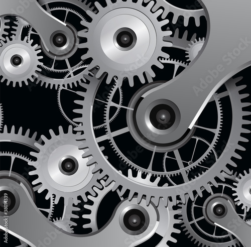 Fototapety, obrazy: background with metallic gears