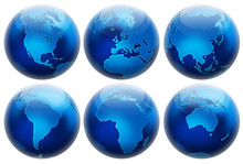 Six Different Positions Globes...