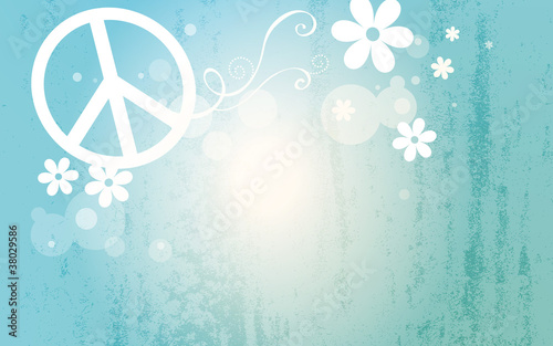 Photo peace and love background