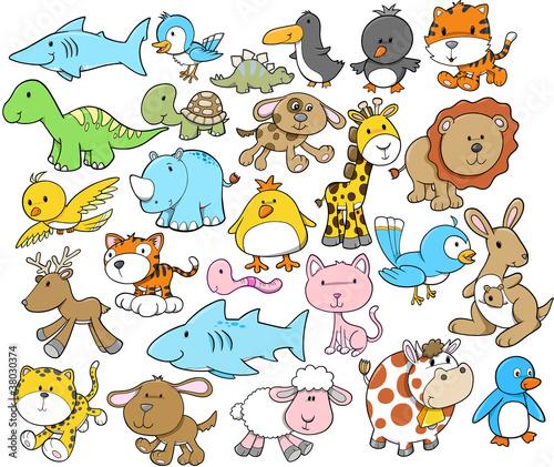 zestaw-elementow-projektu-cute-animal-vector