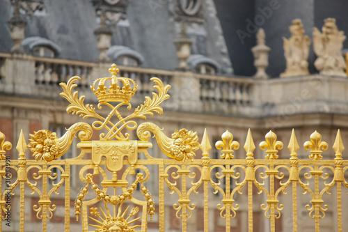 Photographie  Cancellata dorata della reggia di Versailles