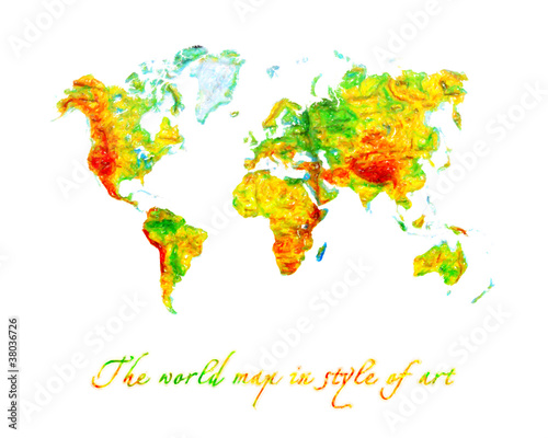 Garden Poster World Map World map the geographical
