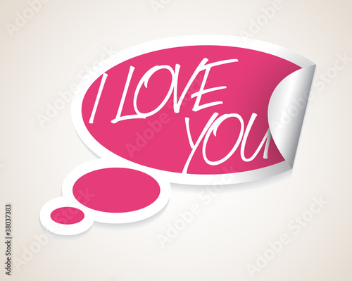 vector i love you speech bubble