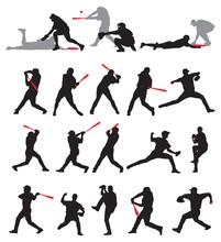 21 Detail Baseball Poses In Silhouette