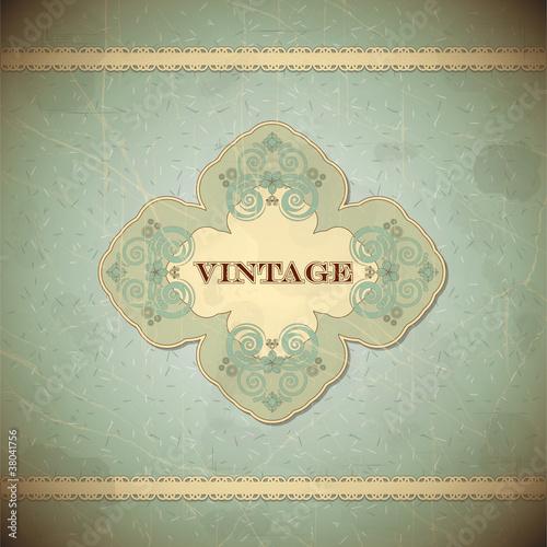 Papiers peints Affiche vintage Vintage card with place for text - scrapbook style