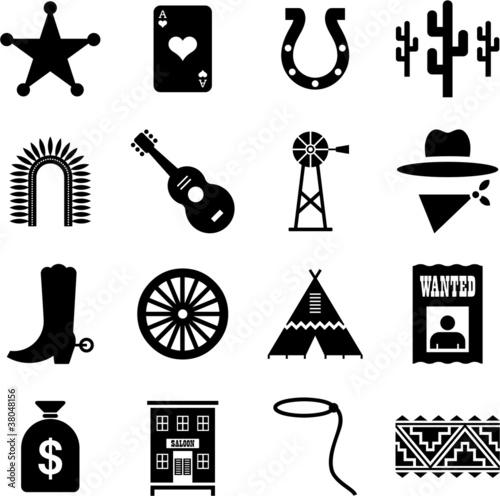 Fotomural Far West pictograms