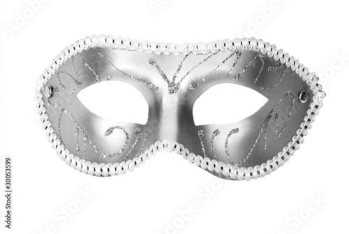 Spoed Foto op Canvas Carnaval Carnival Mask over white