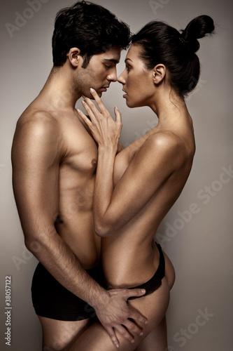 Fotografie, Obraz  Romantic Couple In Lingerie
