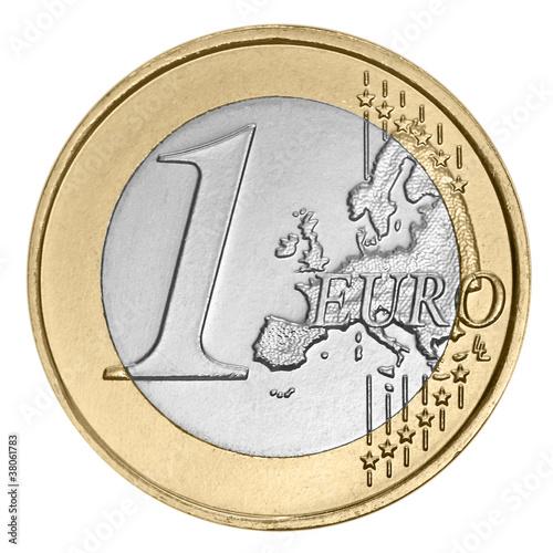 Fotografía One  euro coin