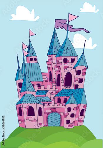 Printed kitchen splashbacks Castle castle