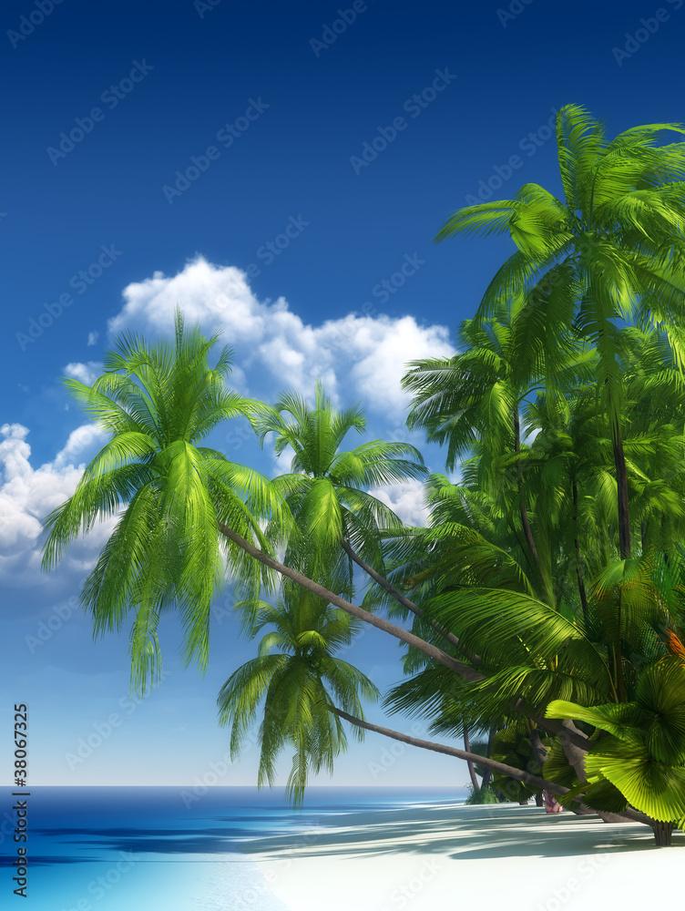 Fototapeta Tropical beach paradise