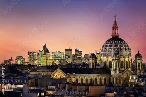 Obraz Paryż w nocy - fototapety do salonu