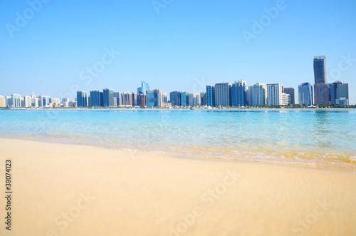 Fotografía  Abu Dhabi panorama, UAE