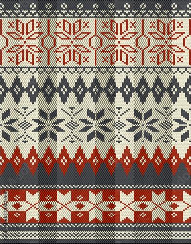 Photo  Nordic knitting pattern