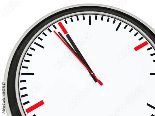Fotografie, Obraz  Clock one minute for twelve