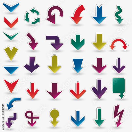 Fotografía  Vector arrows set