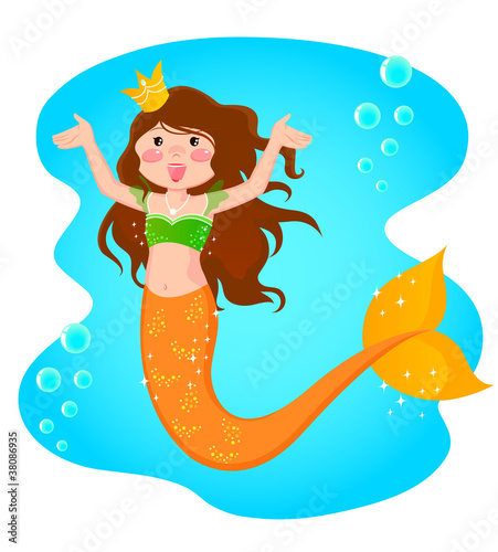 Wall Murals Mermaid mermaid princess