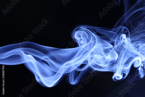 Foto op Plexiglas Rook smoke on black
