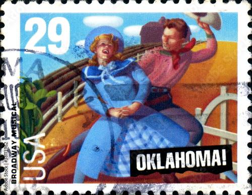 Photo  Oklahoma! Broadway musical. 1943. Us Postage.