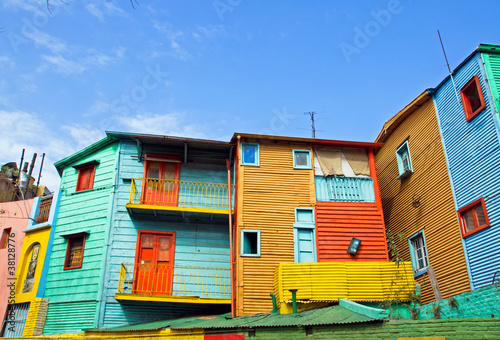 Staande foto Buenos Aires The colourful buildings of La Boca