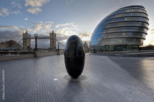 Poster London London Tower Bridge & City Hall
