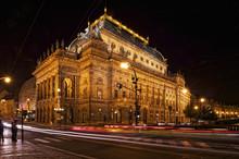 Prague At Night, National Thea...
