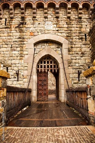 Drawbridge to Castle Door Canvas Print