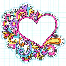 Love Heart Frame Psychedelic D...
