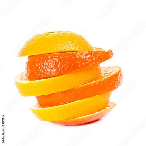 Photo Stands Slices of fruit gefächerte Orangen
